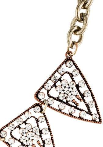 Lulu Frost Crystal Triangle Chain Necklace