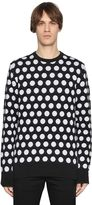 Diesel Black Gold Polka Dot Intarsia Wool Knit Sweater
