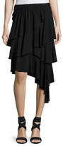 Isabel Marant Weez Asymmetric Layered Skirt, Black