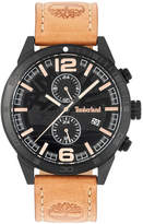 Timberland Men's Sagamore Fawn Brown Leather Strap Watch 46mm