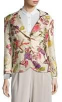 Escada Besima Floral-Print Two-Button Jacket