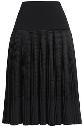Plan C Plisse Midi Skirt