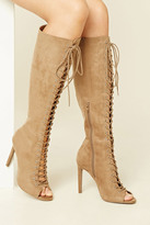 Forever 21 FOREVER 21+ Faux Suede Knee-High Stilettos