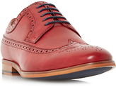 Dune Prague Leather Brogues, Red
