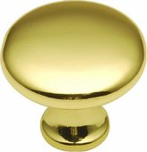 Hickory Hardware P14255-3 1.12 In. Conquest Polished Brass Cabinet Knob