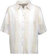 Equipment Guiliana striped cotton-voile shirt
