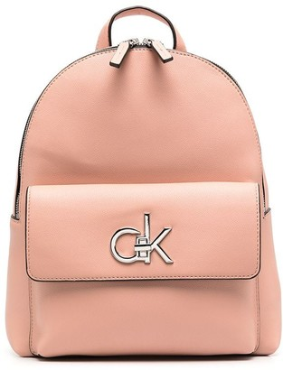 Calvin Klein Logo-Plaque Faux-Leather Backpack