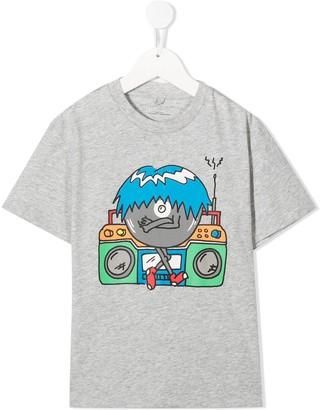 Stella McCartney Kids monster boombox print T-shirt