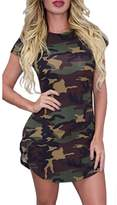AiSiC Women Camouflage Print Bodycon Slim fit Mini Dress