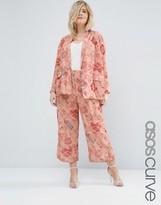 Asos Floral Print Wide Leg Pant