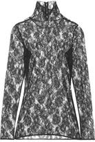 Lanvin Lace Turtleneck Top - Black