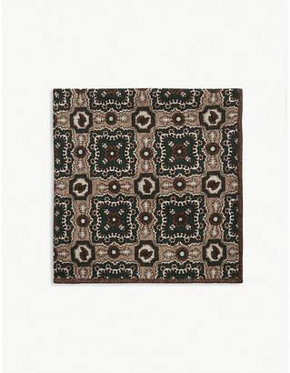 Paisley print pocket square