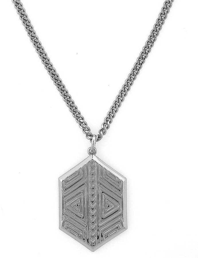 Vince Camuto Tribal Fusion Silver-Tone Pendant Necklace