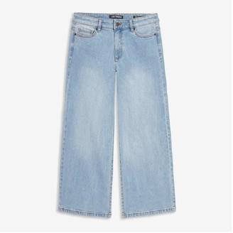 Joe Fresh Women's Wide Leg Jeans, Light Blue (Size 30)