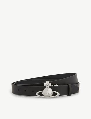 Vivienne Westwood Saturn Orb leather belt