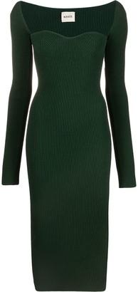 KHAITE Fine-Ribbed Midi Dress