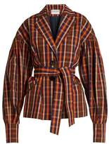 Osman Francois Toybox single-breasted checked jacket