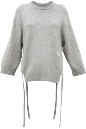 Chloé Iconic Monogram Tie-strap Cashmere Sweater - Womens - Grey