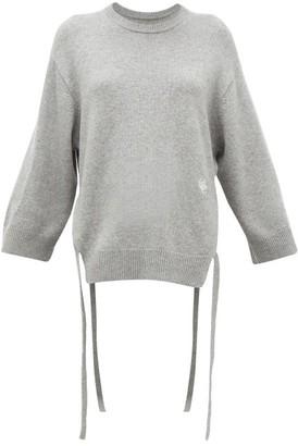 Chloé Iconic Monogram Tie-strap Cashmere Sweater - Grey