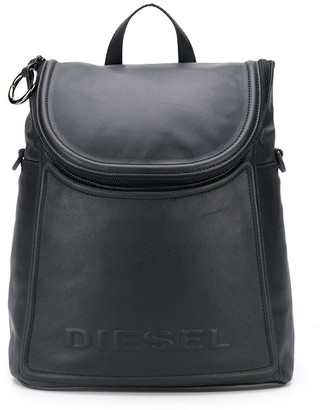 Diesel logo-embossed covertible backpack