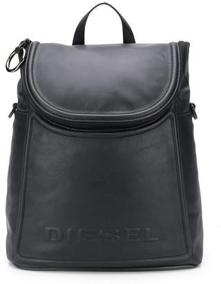 Diesel Logo-Embossed Covertible Backpack