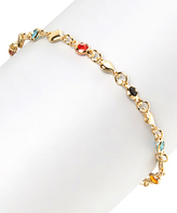 Sweet & Soft Jewel-Tone Crystal & Gold Heart Bracelet