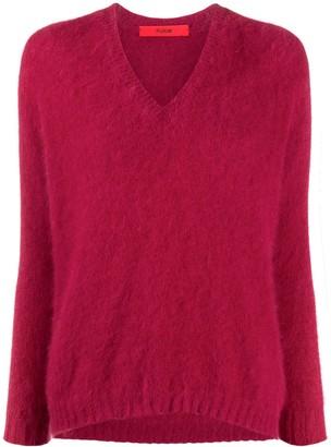 Roberto Collina V-Neck Textured Sweater