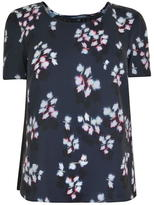 French Connection Eva Floral Pleated Top