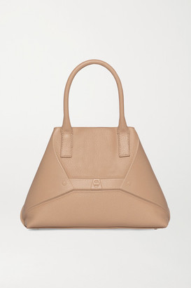 Akris Aicon Small Embossed Textured-leather Tote - Beige