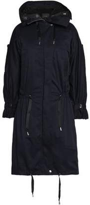 Maje Stretch-cotton Gabardine Hooded Coat