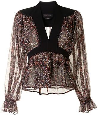Karen Walker Posy floral-print silk blouse
