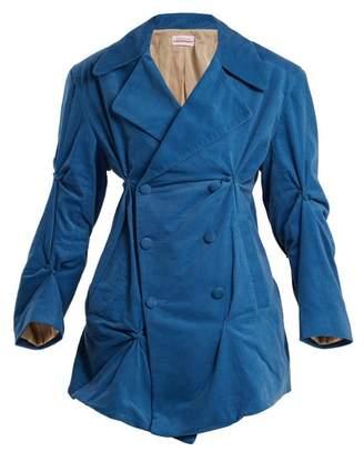 Charles Jeffrey Loverboy Double Breasted Asymmetric Blazer - Womens - Blue