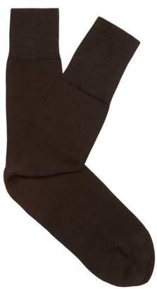 Falke Tiago Cotton Blend Socks - Mens - Brown