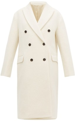 Joseph Arles Double-breasted Alpaca And Wool-blend Coat - Womens - Cream