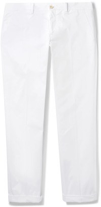 Prada Navy Slim-Fit Stretch Cotton-Gabardine Trousers