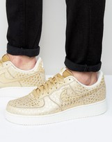 Nike Air Force 1 '07 Lv8 Trainers In Gold 718152-701