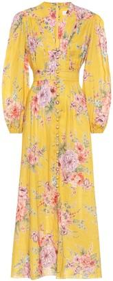 Zimmermann Zinnia floral linen dress