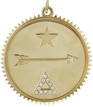 Foundrae Large Dream Yellow Gold Medallion