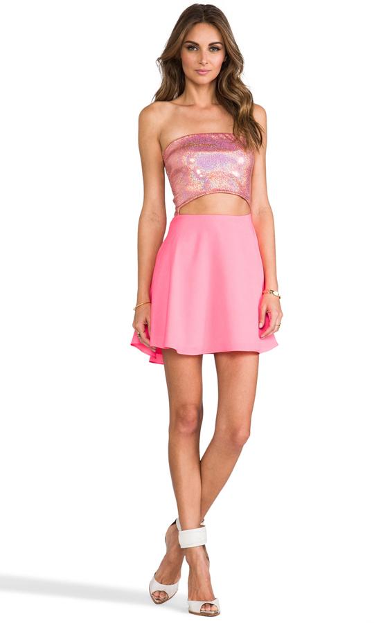 Naven Skater Cut Out Dress