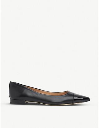 LK Bennett Perth toe-cap leather ballet flats