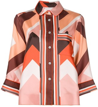 F.R.S For Restless Sleepers Geometric Print Shirt