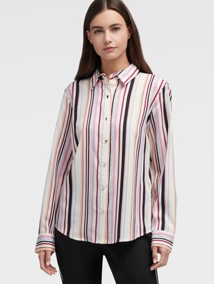 DKNY Multi-color Stripe Button-up