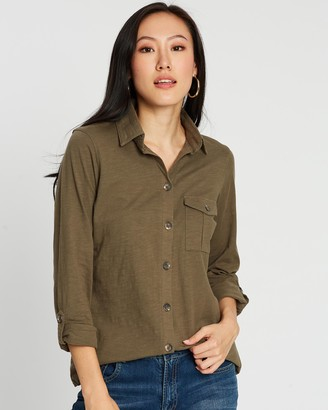 Dorothy Perkins Button-Down Utility Shirt