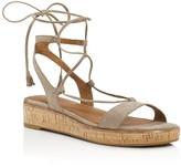 Frye Miranda Suede Gladiator Wedge Sandals