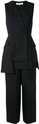 Enfold cropped wide leg trousers