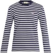 MAISON KITSUNÉ Marin striped cotton-jersey sweater