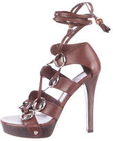 Gucci Lace-Up Platform Sandals