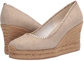 Jack Rogers Palmer Closed Toe Wedge (Natural) Women's Shoes