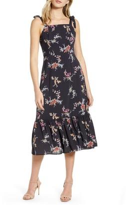 Paige Tolucah Floral Ruffle Midi Dress