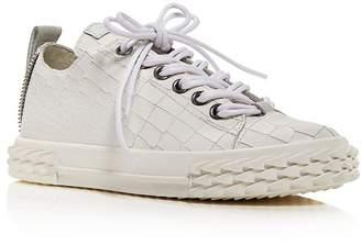 Giuseppe Zanotti Women's Blabber Croc-Embossed Low Top Sneakers